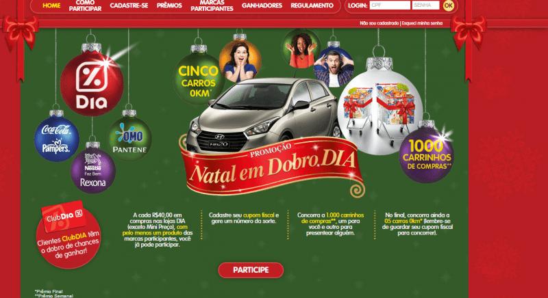 Promoção Natal em Dobro do Supermercado Dia