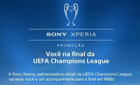 Promoção Sony Xperia – Ganhador irá à final da Liga dos Campeões